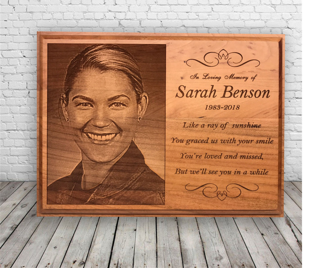 Wood Plaque for Funeral/Sympathy Gift