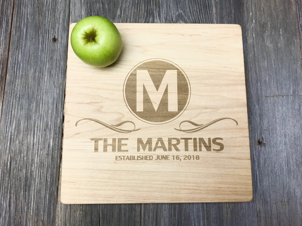 10X10X1 John Boos Maple Wood Cutting Board Custom Engraved
