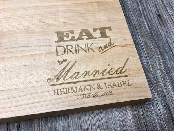 18x12x1.5 Maple John Boos Cutting Board Butcher Block Custom Engraved