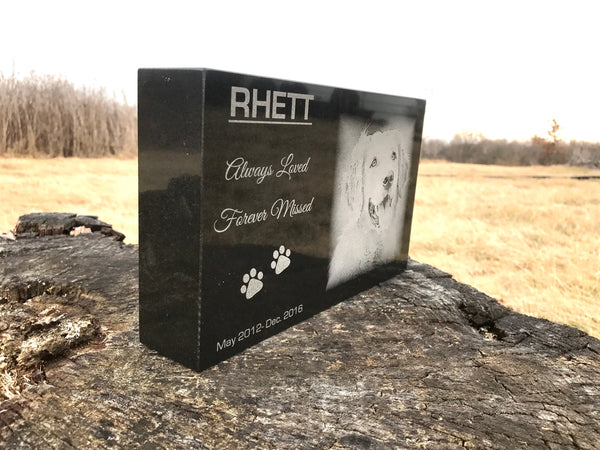 Pet Memorial Granite Headstone