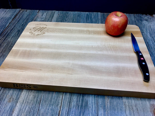 12x18x1.25 Custom Engraved Maple John Boos Cutting Board