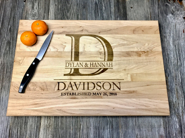 12x18x1.5 John Boos Maple Wood Cutting Board Custom Engraved