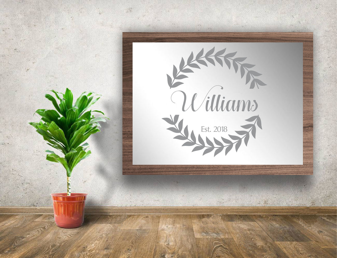 "24""x18"" Engraved Home Decor Mirror"