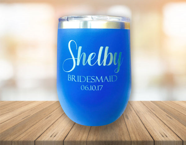 Personalized 12 oz Insulated Stemless Wine Tumbler