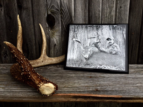 Hunting Photo Engraved on Marble