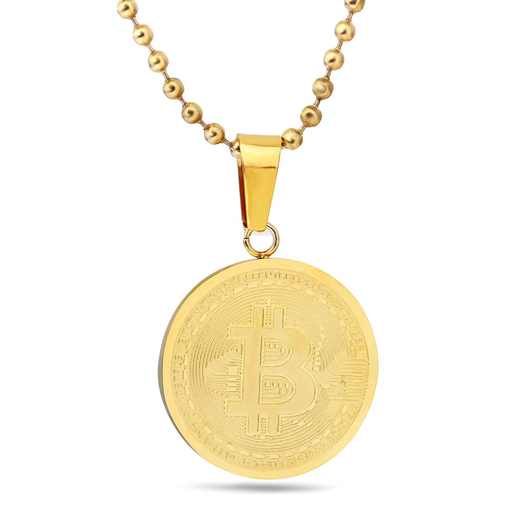 Stainless Steel Bitcoin Pendant Necklace - Bitcoin Merch Outlet