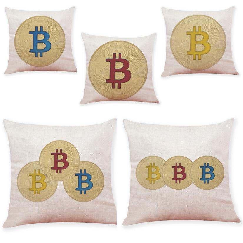 Bitcoin Decorative Throw Pillowcase Cover - Bitcoin Merch Outlet