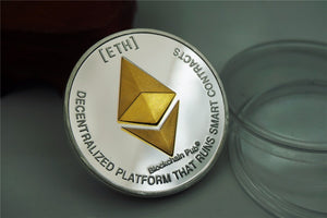 Steel Core Silver Plated Ethereum Coin - Bitcoin Merch Outlet
