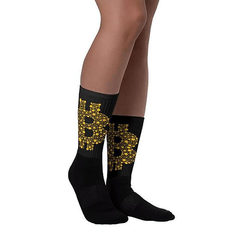 Bitcoin Breathable Long Socks - Bitcoin Merch Outlet