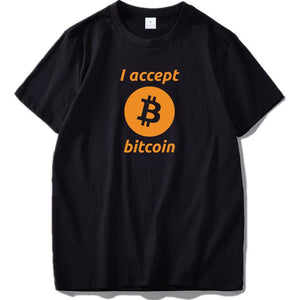 Accept Bitcoin T-shirt For Men - Bitcoin Merch Outlet