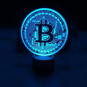 Bitcoin Sign 3D Led Lamp