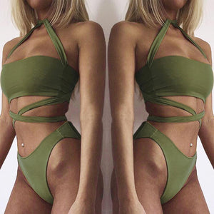 New Arrival Bandage Push Up Bikini Sexy Beach Swimsuit