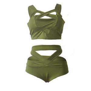 Bandage Push-Up Swimsuit Beachwear