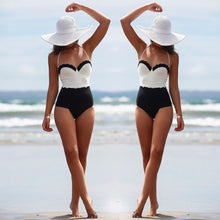 One Piece Push Up Padded Beachwear