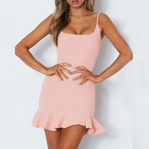 Sexy Off Shoulder Sleeveless Mini Dress