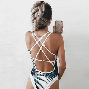 One Piece Beach Swimsuit Swimwear Bathing Monokini Push Up Padded Bikini