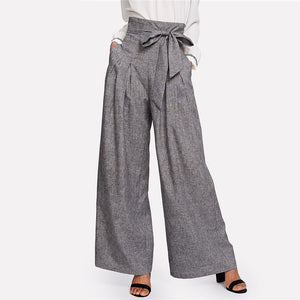 Wide Leg Loose Box Pleated Palazzo Pants
