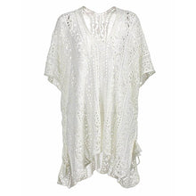 2018 New Arrival Sexy Beach Cover Up White/Black Crochet Robe