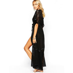 Chiffon Blouse Beach Lace Up Cardigan Cover Up