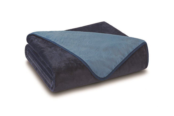 All Seasons Solid Reversible Plush Blankets