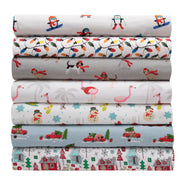 Holiday Print Microfiber Sheet Set