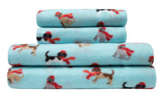 Holiday Print Microfleece Sheet Set