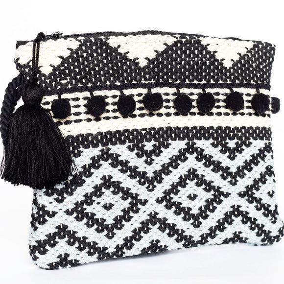 Dimandi Kourelou Clutch - Black & Grey