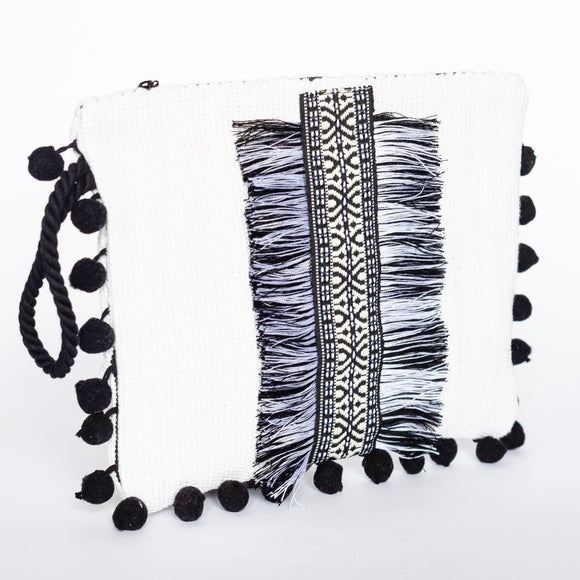 Anafi Kourelou Bag - White & Black
