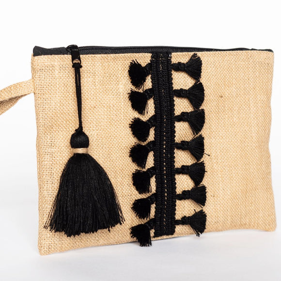 Naxos Bag - Jute & Black