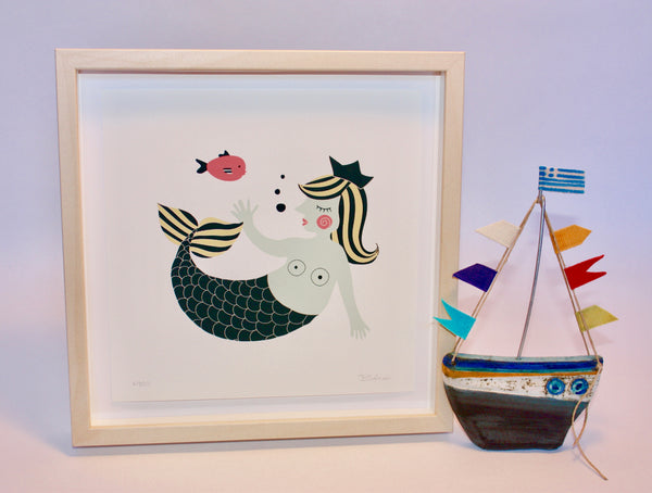 Print - Aegean Mermaid