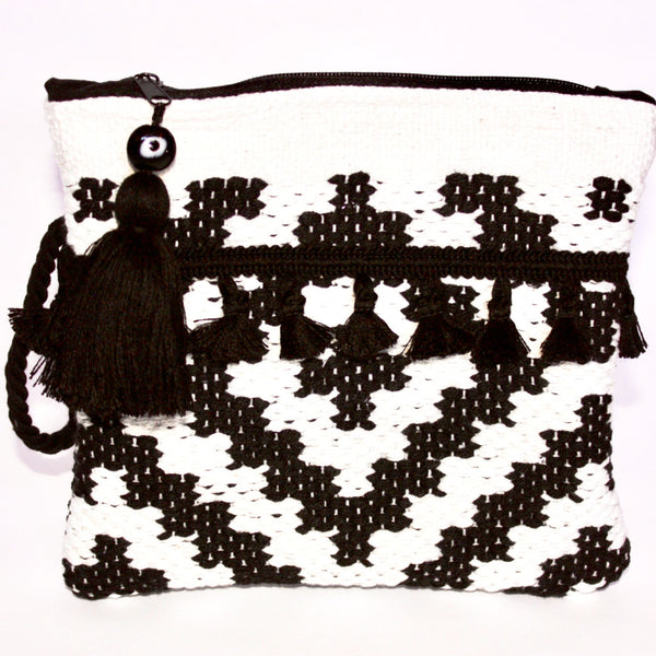 Sifnos Kourelou Bag - White & Black