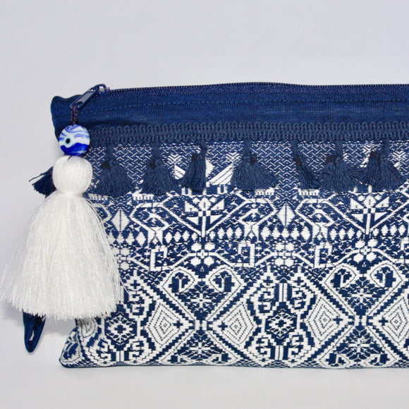 Sikinos Bag - Blue & White