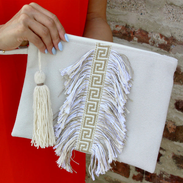 Grecian Key Bag