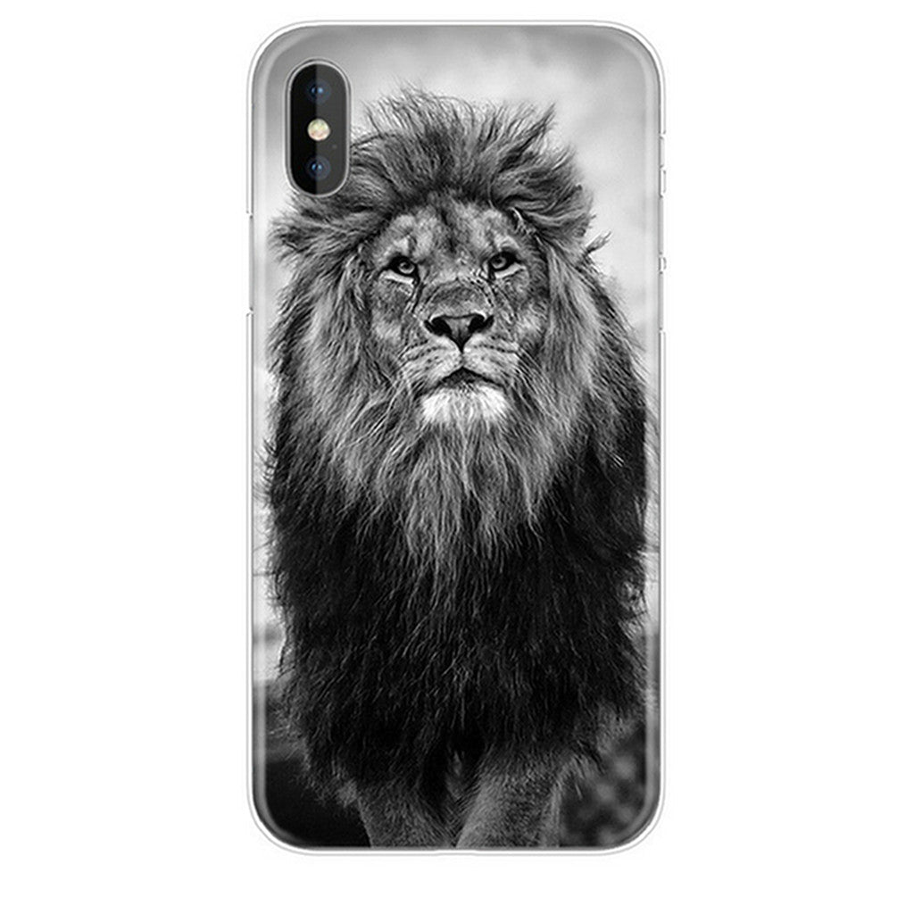 Black and white lion iphone case