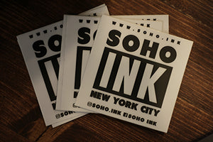 White Stickers - SohoInk Clothing Merchandise