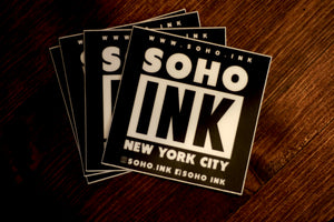 Soho Ink Black Stickers - SohoInk Clothing Merchandise