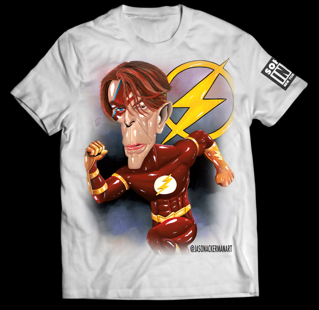 David Bowie inspired t-shirt by Jason Ackerman - SohoInk Clothing Merchandise