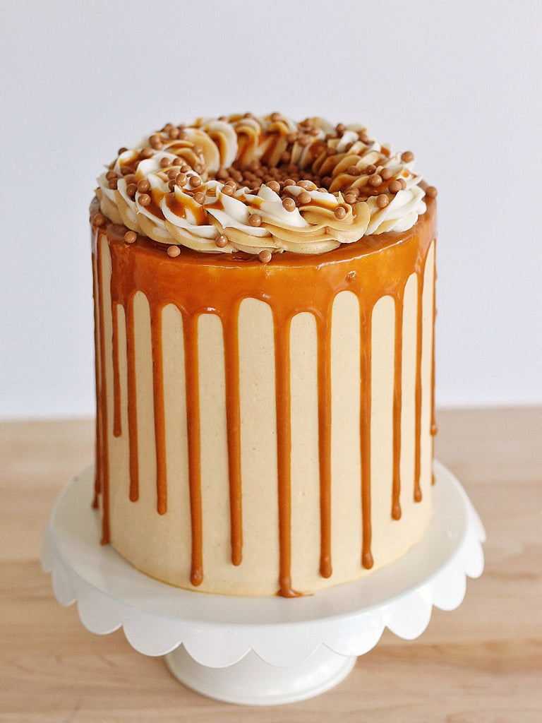 August: Banana Peanut Butter Caramel Cake
