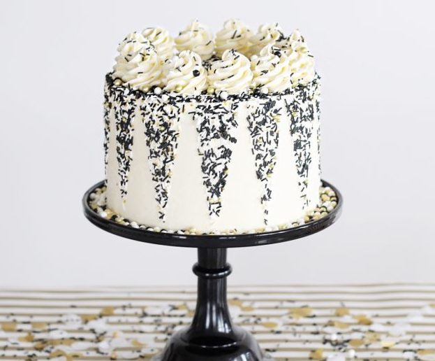 Classic Black and White Cake
