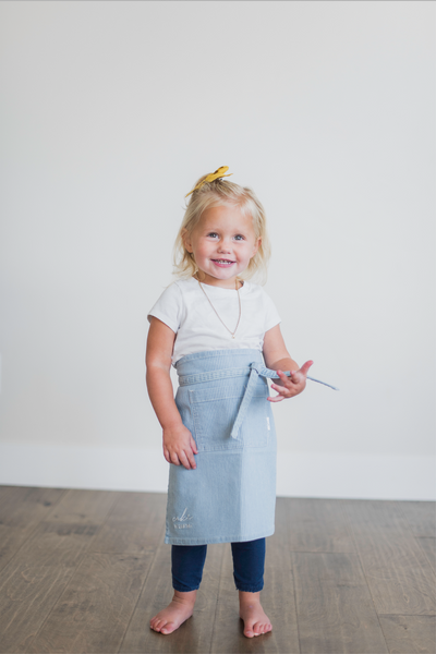 Pinstripe Denim Apron MINI
