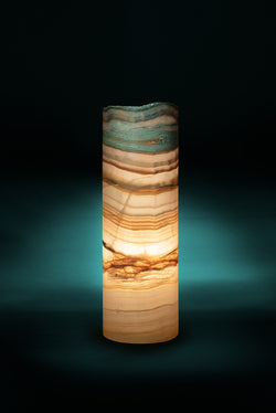 Luray Cylindrical Live Edge Table Lamp