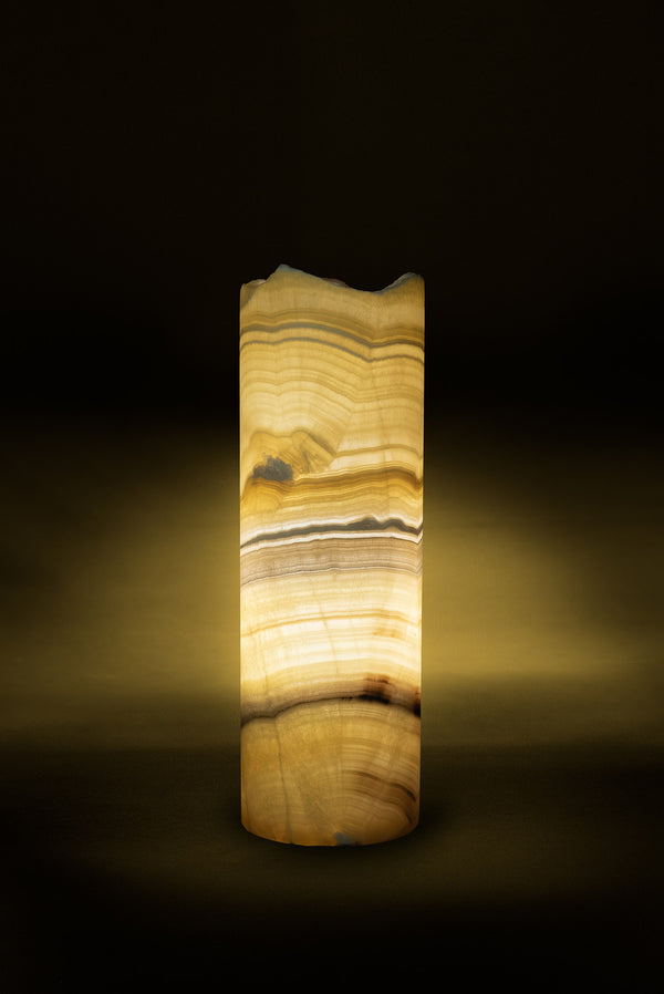 Miel Cylindrical Table Lamp Live Edge