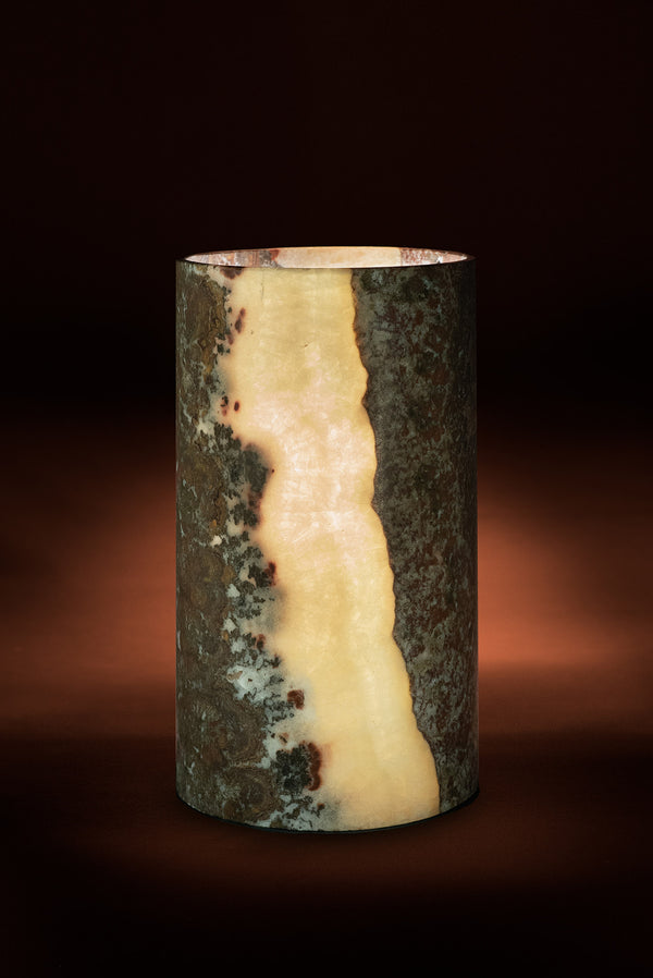 Vermilion Cylindrical Table Lamp