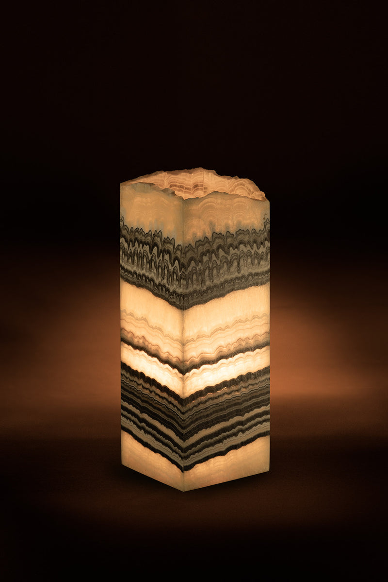 Strata Cube Live Edge Table Lamp