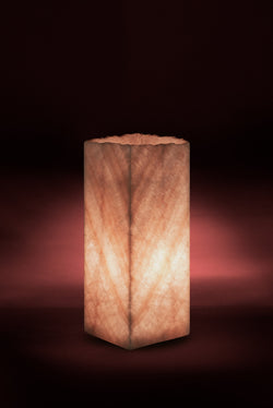 Coral Cube Live Edge Table Lamp