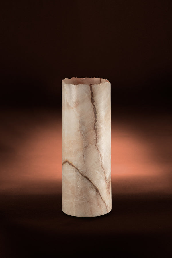 Coral Cylindrical Live Edge Table Lamp