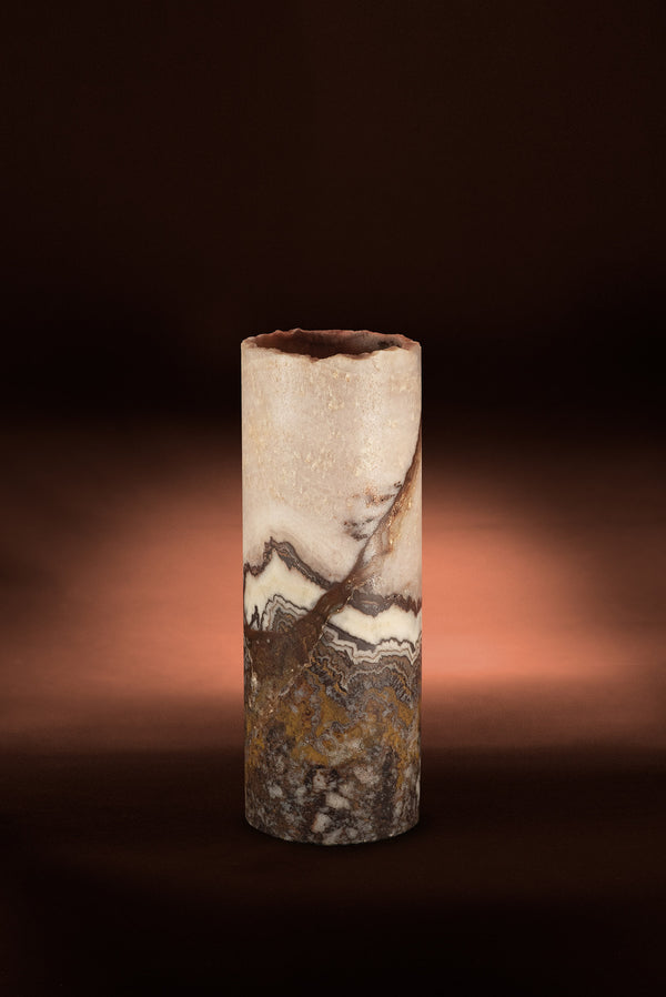 Sedona Cylindrical Live Edge Table Lamp