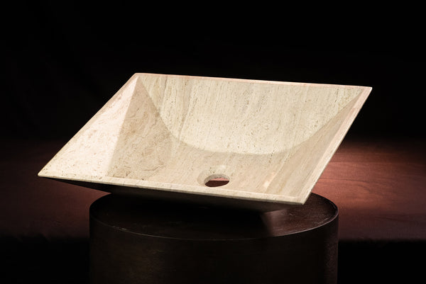Travertine Light Sink