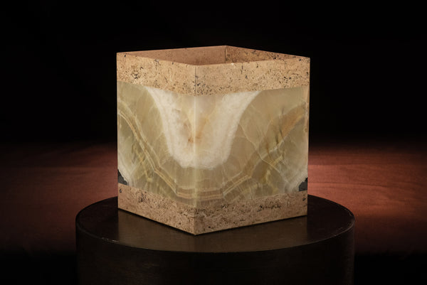 Verdant and Travertine Box