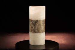Glacier and Travertine Vase